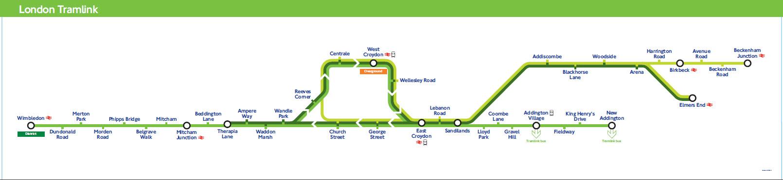 Схема трамвайных маршрутов